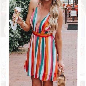 New Bright Striped Dress